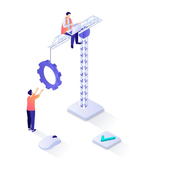 ilustración vectorial de transformación digital